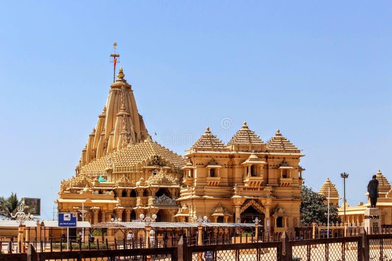 Somnath tempel fotografering för bildbyråer