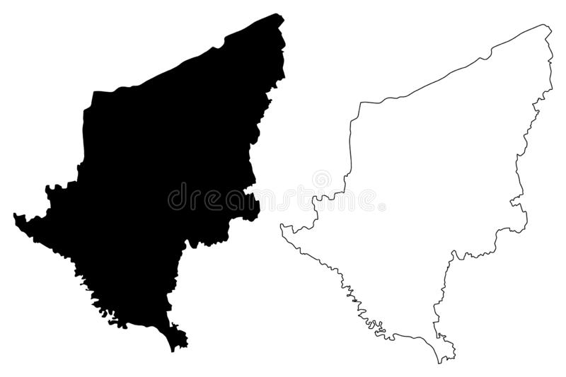 Somogy County Hungary, Hungarian counties map vector illustration, scribble sketch Somogy map.  stock illustration