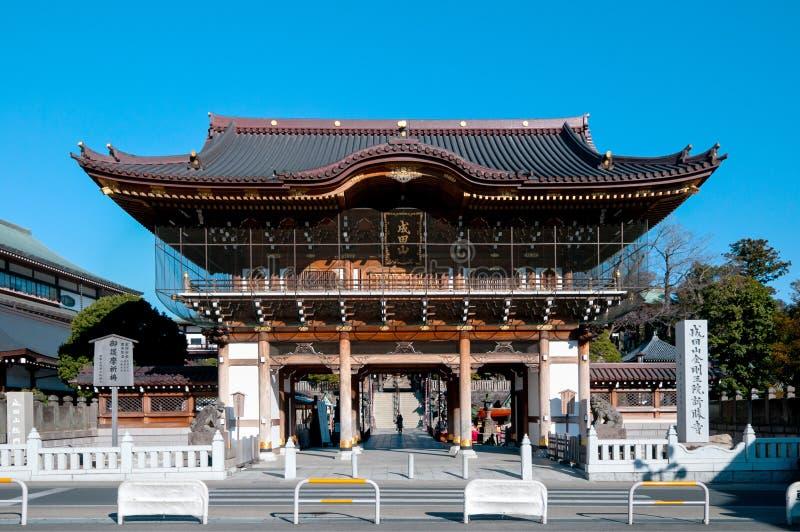 Somonpoort bij Narita San Shinsho ji tempel, Narita, Chiba, Japan stock foto's