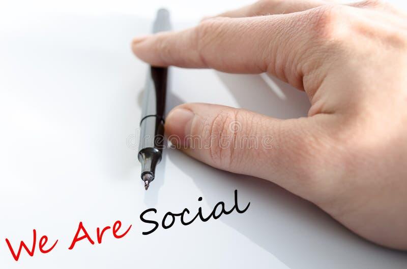 Somos concepto social fotografía de archivo