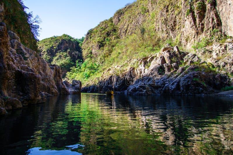 Somotocanion in het noorden van Nicaragua, een populaire toeristenbestemming voor openluchtactiviteiten zoals het zwemmen, wandel stock foto