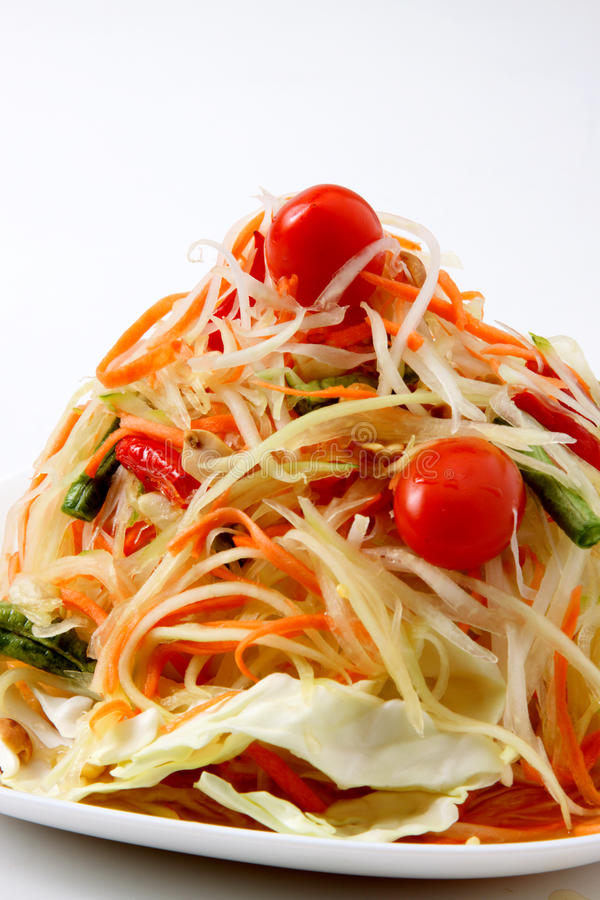 Somtum Delicious Thai Food royalty free stock photography