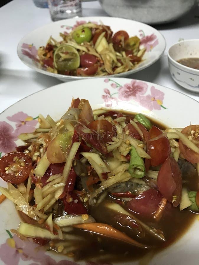 Somtum jest mój favourit jedzeniem zdjęcie stock