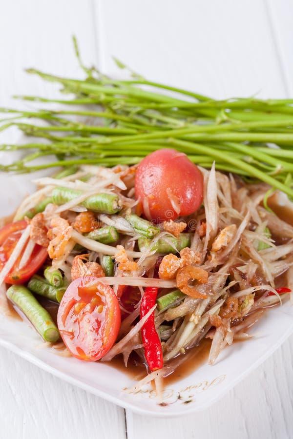 Download Somtum, Melonowa Sałatkowy Wyśmienicie Jedzenie W Thailand Obraz Stock - Obraz złożonej z pomidor, tajlandia: 53792737