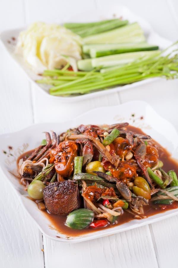 Download Somtum (tum Pa), Melonowa Sałatkowy Wyśmienicie Jedzenie W Thailand Zdjęcie Stock - Obraz złożonej z kultura, jedzenie: 53792710