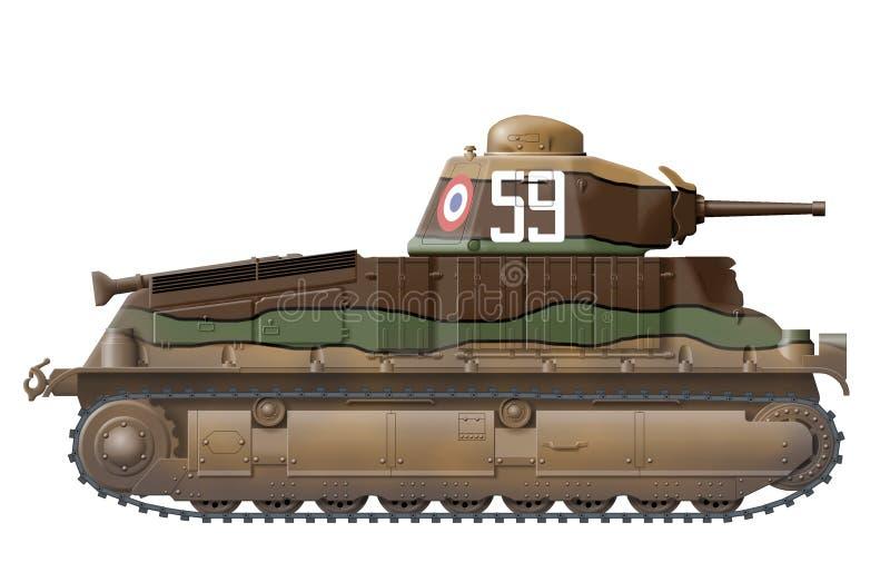 Somua S-35 stock de ilustración