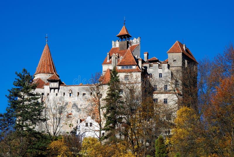 Son, château du `s de Dracula, borne limite de la Roumanie photo stock
