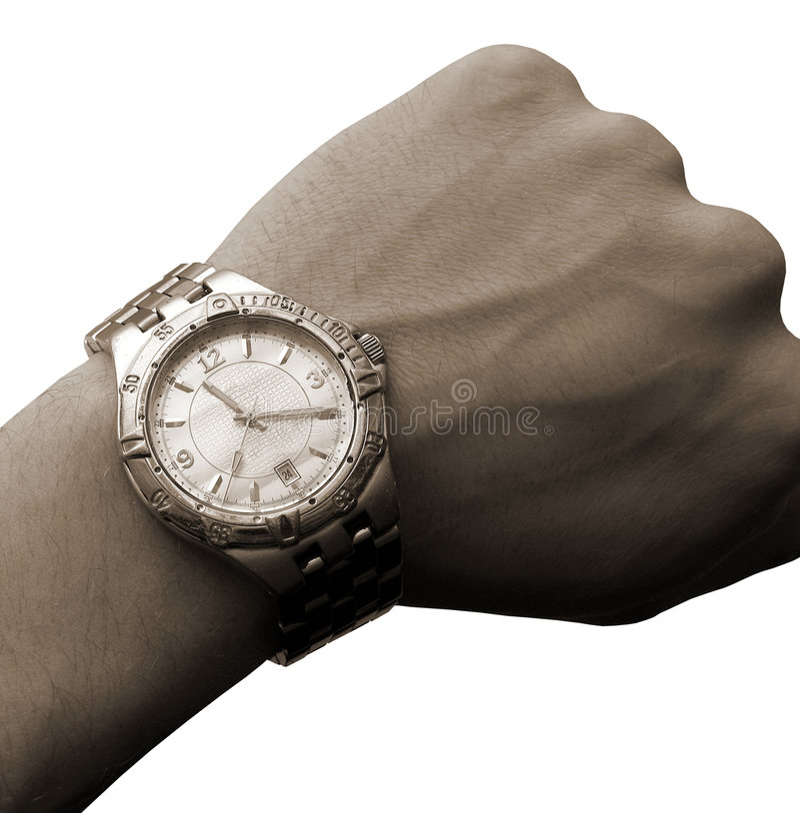 Son d'isolement de montre-bracelet à disposition photos stock