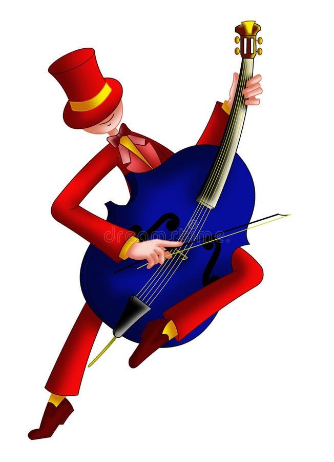 Son de violoncelle illustration de vecteur