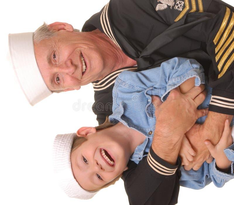 son för 7 sjöman royaltyfria foton
