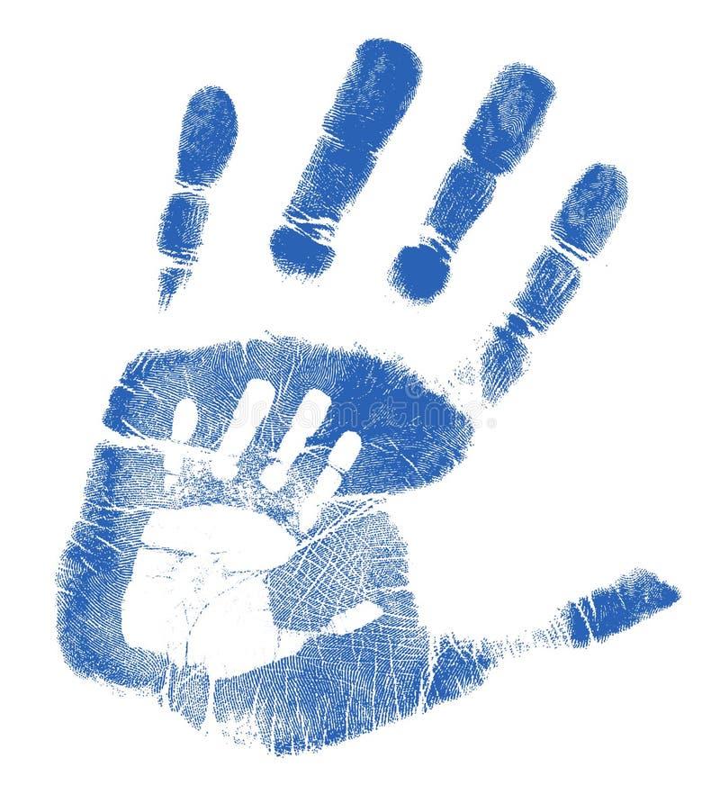 son för faderhandprintsillustration stock illustrationer