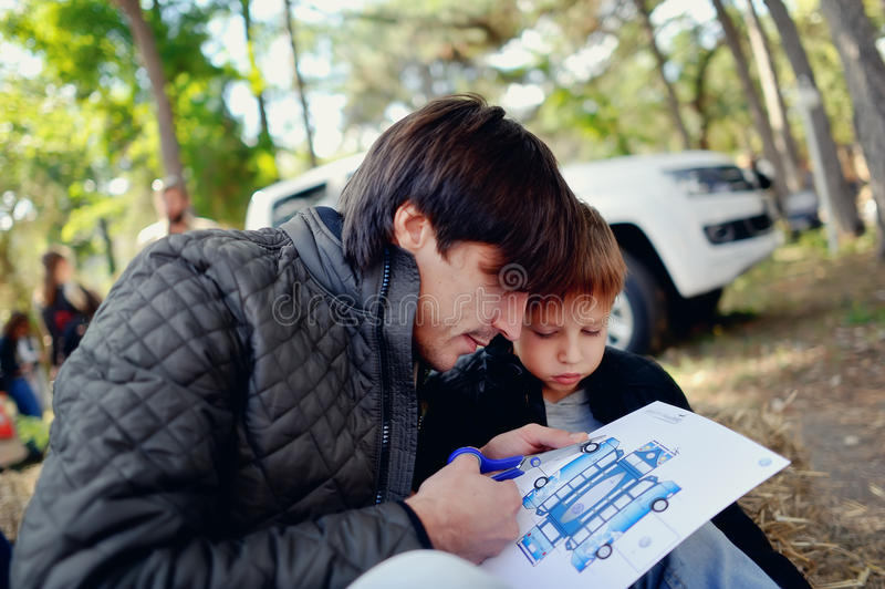 Download Son with father stock image. Image of face, lifestyle - 33871639