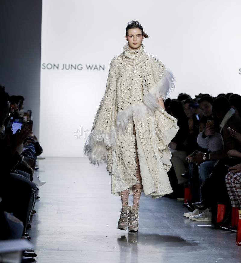 Son Jung Wan FW18 royalty free stock image