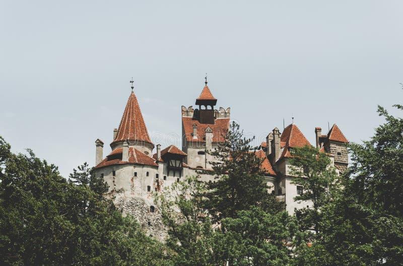 Son rampant antique de château Demeuré de Dracula en Transylvanie, la Roumanie image libre de droits