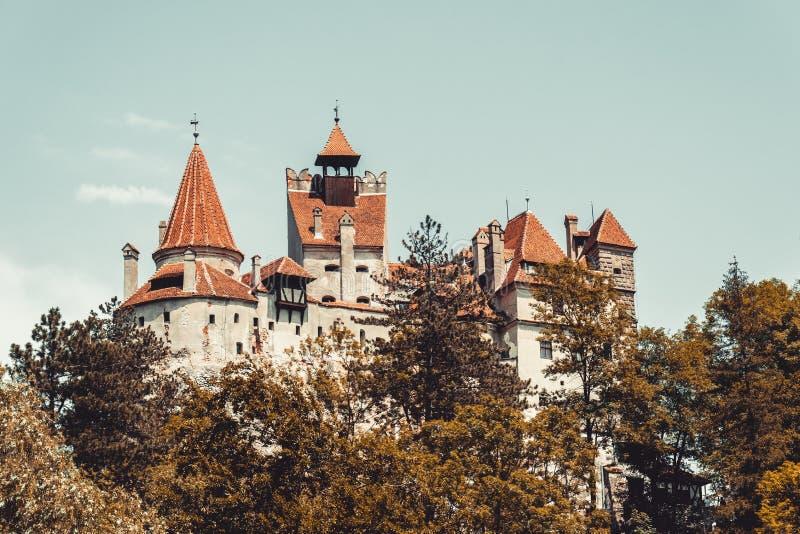 Son rampant antique de château Demeuré de Dracula en Transylvanie, la Roumanie, Europe de l'Est photos libres de droits