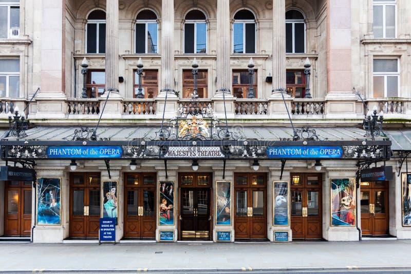 Son théâtre de Majestys montrant le fantôme de l'opéra images libres de droits