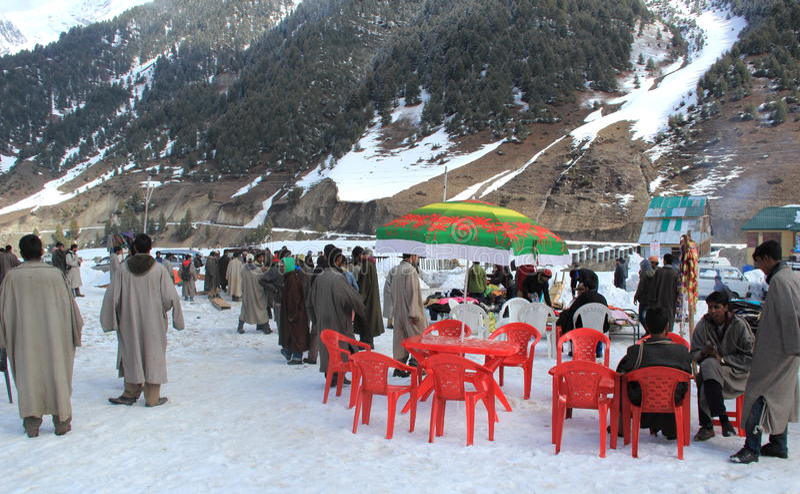 Sonamarg In Kashmir. royalty free stock photography