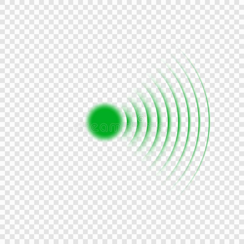 Sonar search sound wave icon royalty free illustration