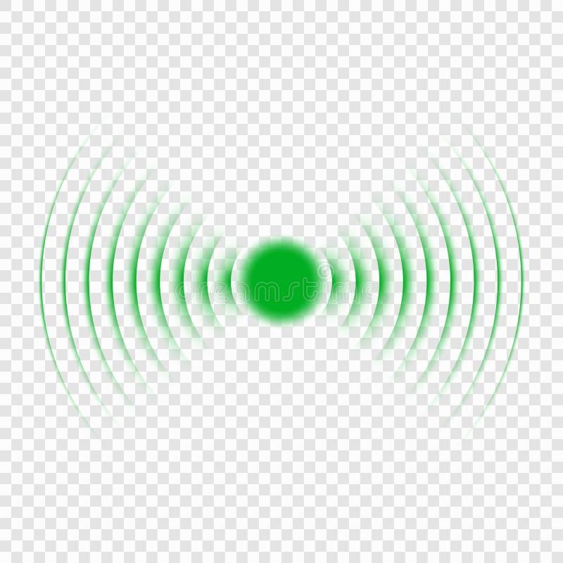 Sonar search sound wave icon vector illustration