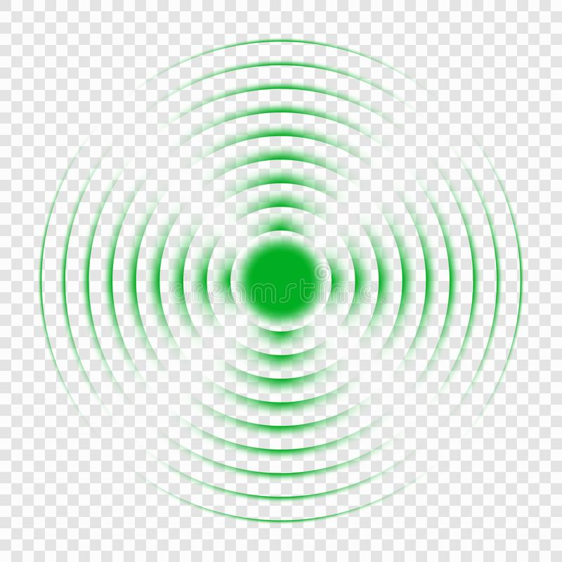 Sonar search sound wave icon stock illustration