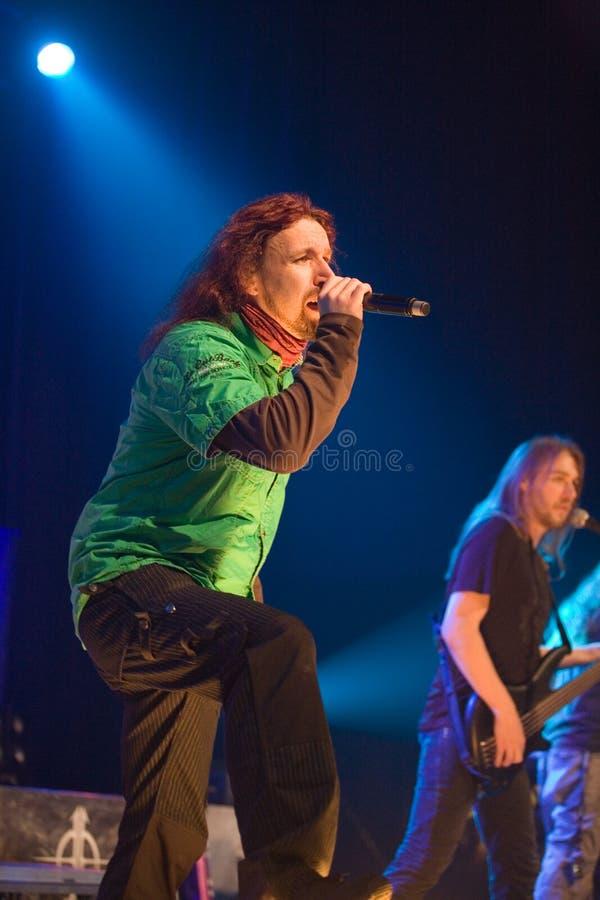 Sonata Arctica band perform on Budapest