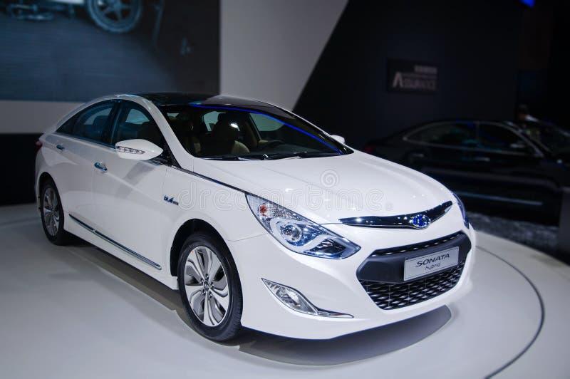 A Sonata Car Of Hybrid Editorial Stock Image