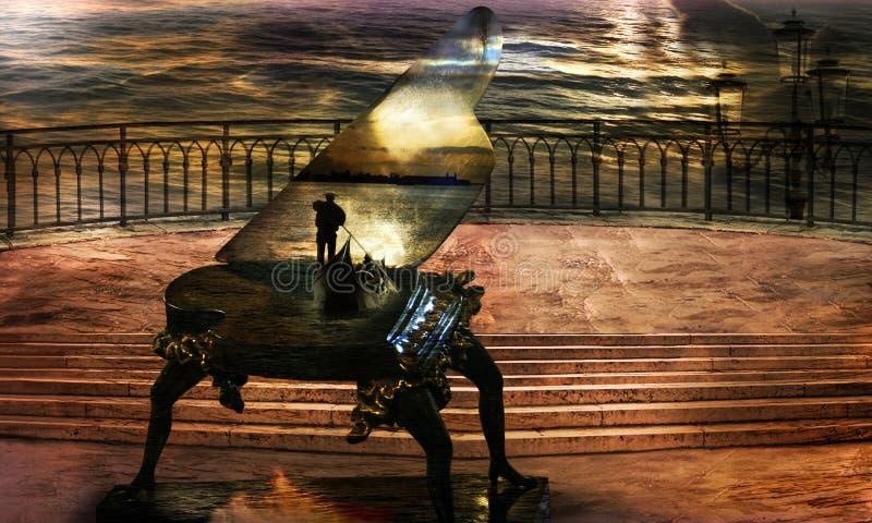 Sonate du `s de gondolier photo libre de droits