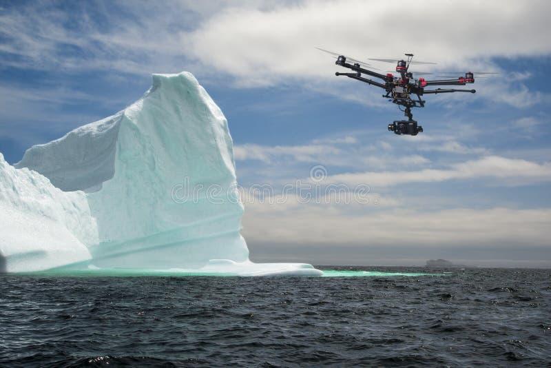 Sonda aerea dell'iceberg fotografie stock