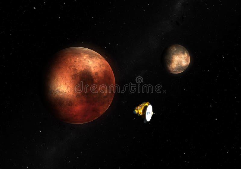 sonda Pluto z horyzontu ilustracja wektor