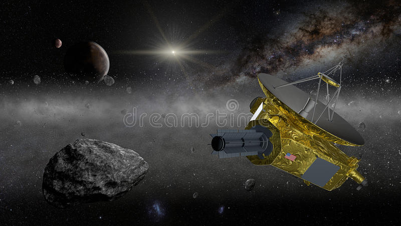 Sonda spaziale di New Horizons nella fascia di Kuiper immagine stock libera da diritti