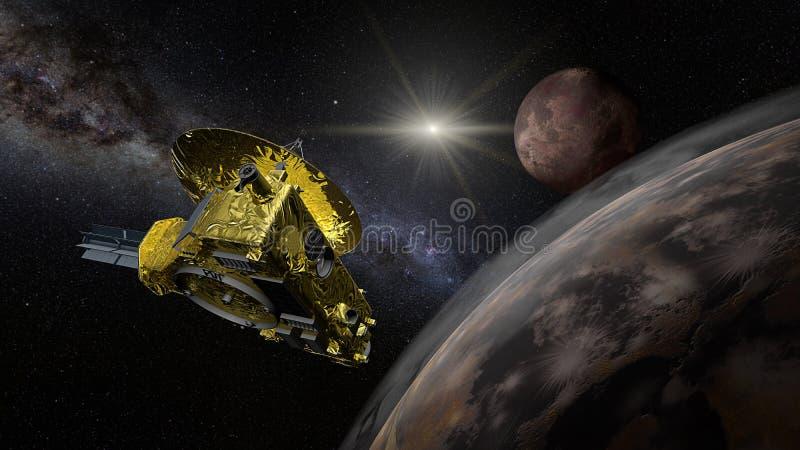 Sonda spaziale di New Horizons - parata aerea del Plutone fotografia stock
