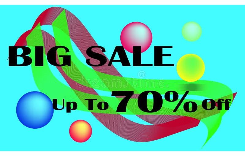 Sonderangebot des großen Verkaufs des Verkaufsfahnenschablonenentwurfs flüssiger dynamischer Formhintergrund stock abbildung