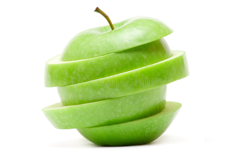 Sonderbarer grüner Apple stockbild