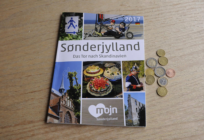 SONDERJYLLAND katalog W NIEMCY języku obraz stock