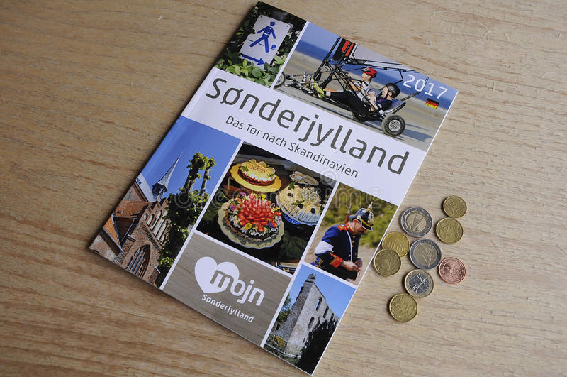 SONDERJYLLAND katalog W NIEMCY języku fotografia stock