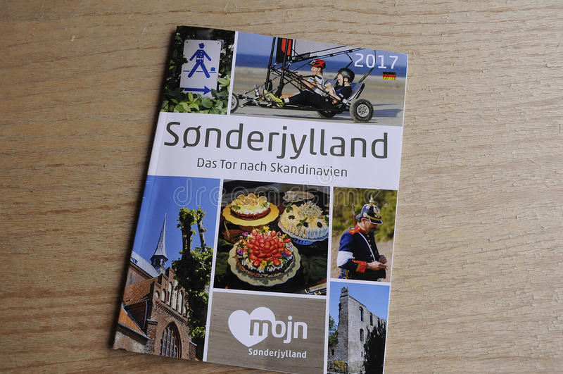 SONDERJYLLAND katalog W NIEMCY języku obraz royalty free