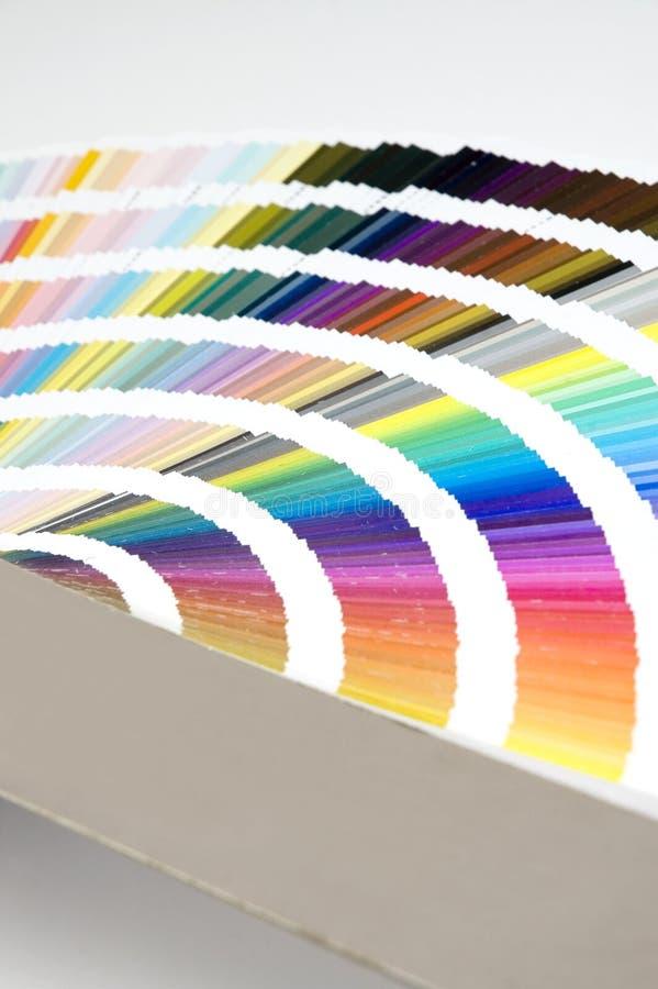 Sonderkommando der Farbenanleitung - Diagramm lizenzfreie stockbilder