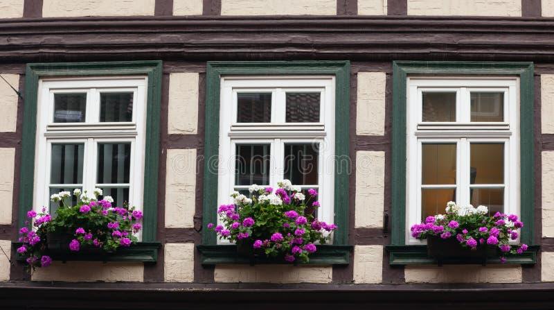 Sonderkommando vom Haus in Wernigerode stockfotos