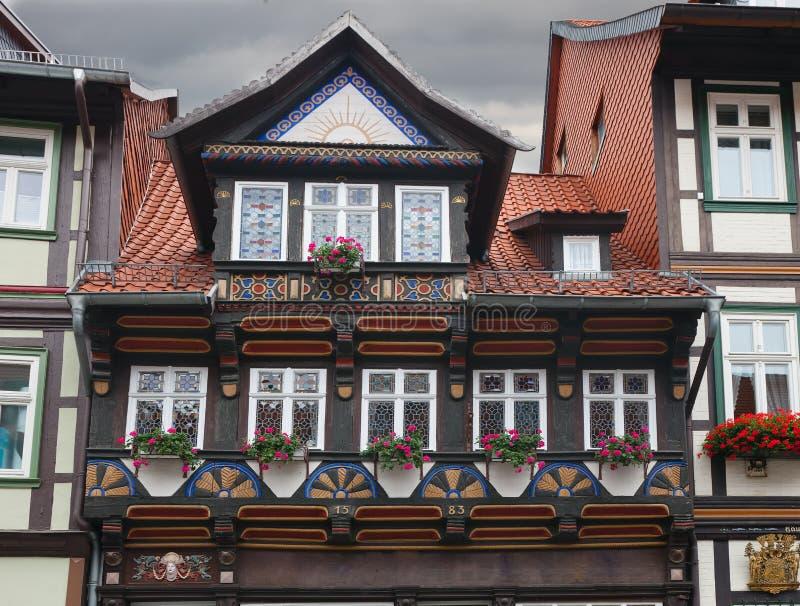 Sonderkommando vom Haus in Wernigerode stockfotografie