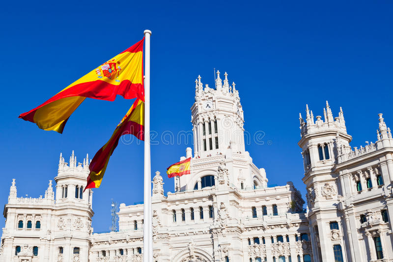 Sonderkommando von Palacio de Comunicaciones, Madrid stockbild