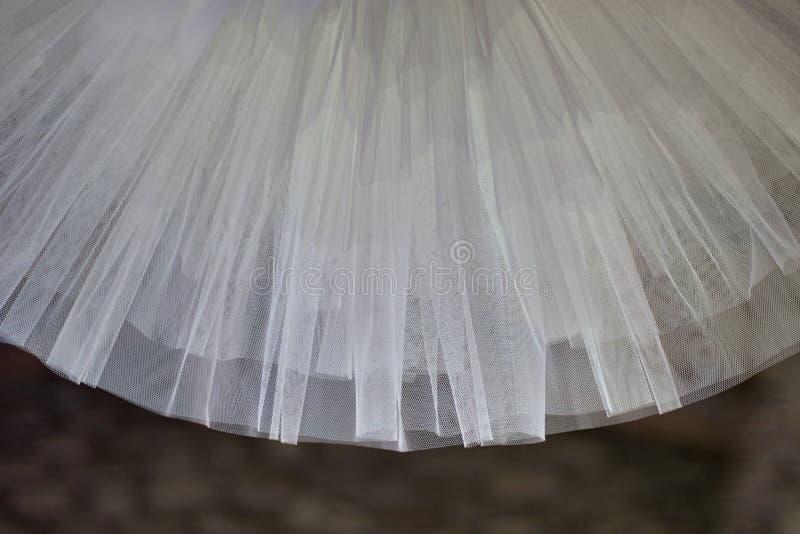 Sonderkommandos von weißem Tulle des klassischen Ballettröckchens lizenzfreie stockbilder