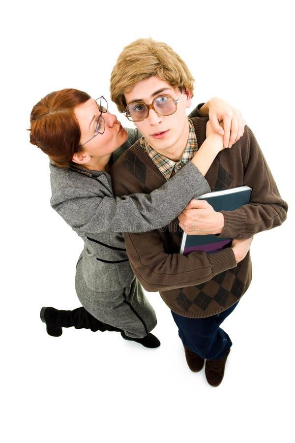 Sonderlingkerl mit Frau stockbilder