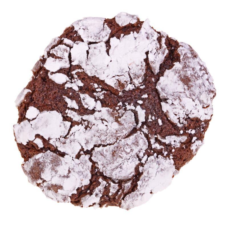 Sondern Sie das frisch gebackene aus, selbst gemachte lokalisierte Schokoladenwindungsplätzchen stockfotos