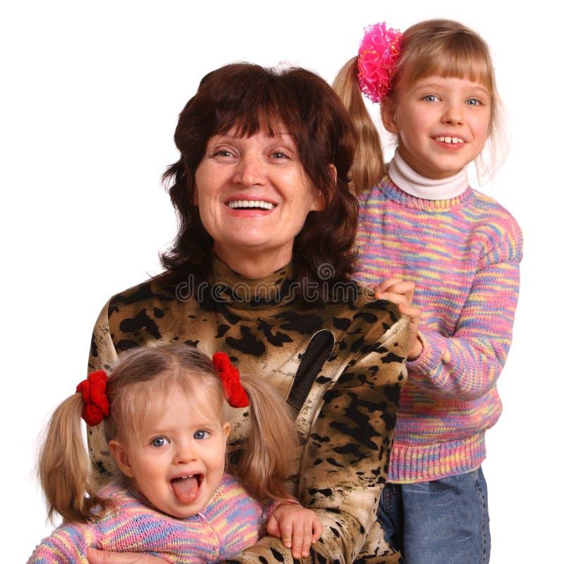 sondotterfarmor lyckliga två arkivbilder