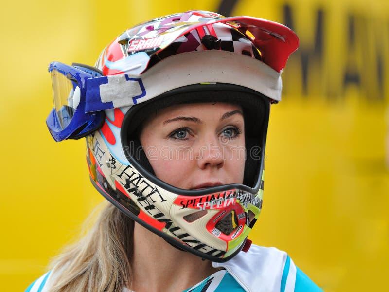 Sondra Williamson Halny rowerzysta - Enduro setkarz fotografia royalty free