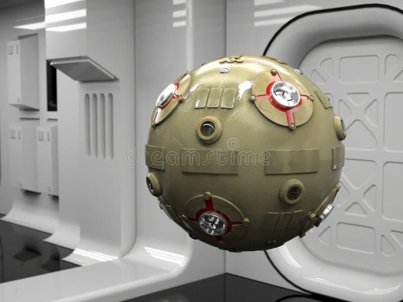 sondy droidów przestrzeni ilustracja wektor