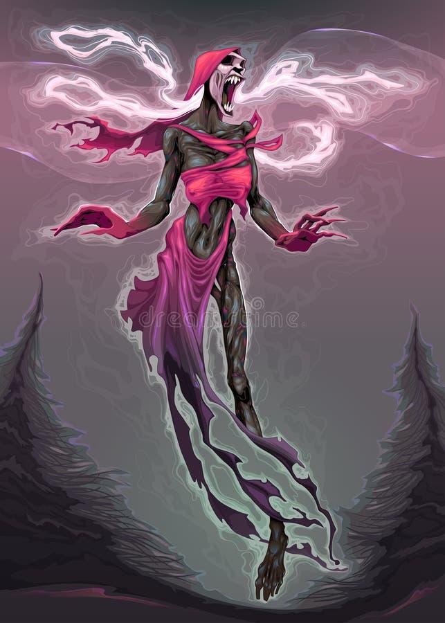 The song of the Banshee. Vector horror illustration vector illustration