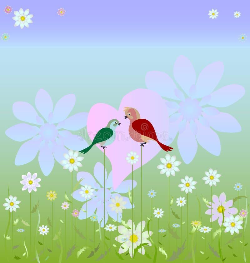 Download Song of love stock illustration. Illustration of grass - 24635956