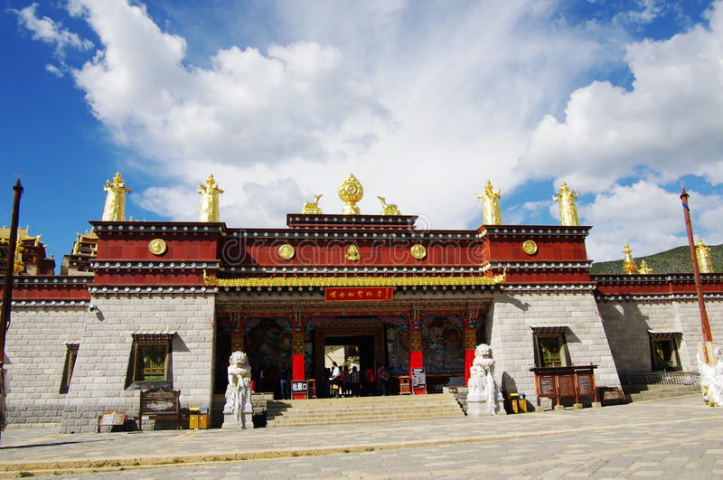 Song zan lin temple in Shangri-la. A famous Tibetan temple in Shangarila town. Song Zan Lin Si,China royalty free stock photo