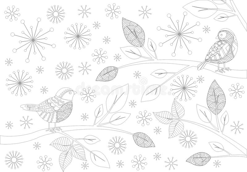 Songbird vector illustration